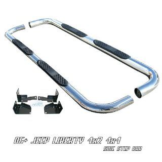 Stainless Steel Nerf Side Step Bar   2005+ Jeep Liberty 4x2 4x4