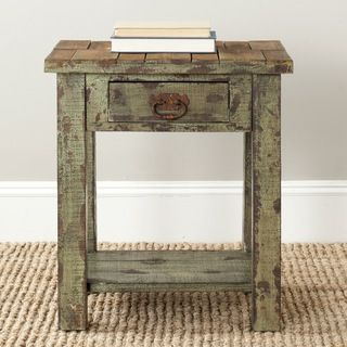 Safavieh Alfred Antique Green Night Stand