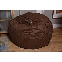 LoveSac 6 feet Brown Microsuede Bean Bag
