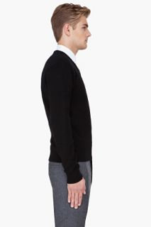 Raf Simons Black Angora Wool Sweater for men