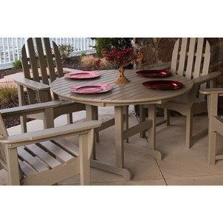 Poly Wood RT236SA Round Outdoor Dining Table Furniture