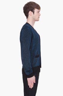 Marc By Marc Jacobs Metallic Blue Lurex Sweater for men