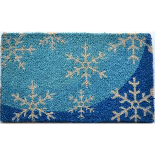 Blue Flakes Multi Coir Door Mat (26 x 16)