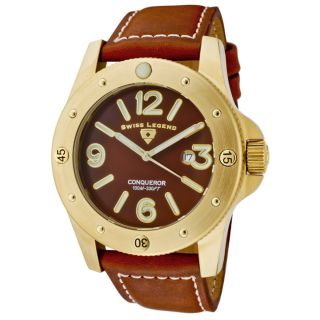 Swiss Legend Mens Conqueror Brown Leather Watch