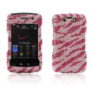 Pink Zebra BlackBerry Storm II 9550 Rhinestone Case