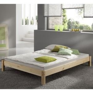 Lit futon TAIFUN 180 x 200 en pin massif, vernis naturel   Matériel