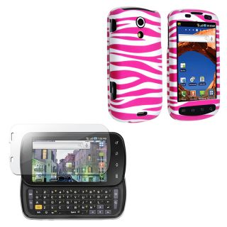Pink Zebra Case/ Screen Protector for Samsung Epic 4G D700