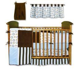 Trend Lab Blueberry 6 piece Crib Bedding Set