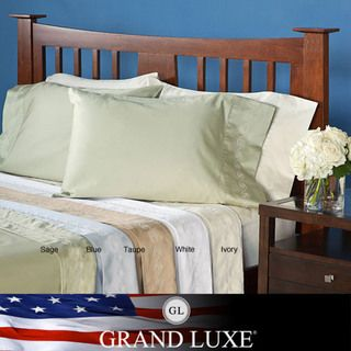Grand Luxe Egyptian Cotton Sateen 300 Thread Count Swirl Deep Pocket