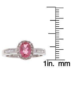 14k Gold 1/3ct TDW Diamond Pink Tourmaline Ring