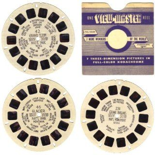 View Master Reels #42, #46, #231 U.S. National Parks and Monuments