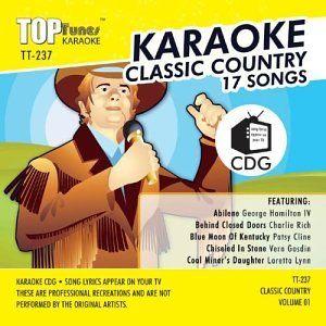 Top Tunes Karaoke TT 237 Country; Vern Gosdin, Patsy Cline