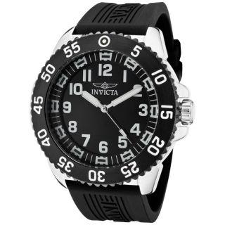 Invicta Mens Pro Diver Black Polyurethane Watch