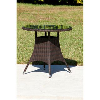 Milan 32 Resin Wicker Round Dining Table