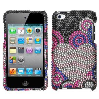 Premium iPod Touch 4 Bubble Hearts Rhinestone Case