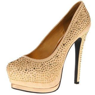 Toi et Moi Womens Toi et Moi Daisy 05 Gold Satin Jewel Pointed Toe