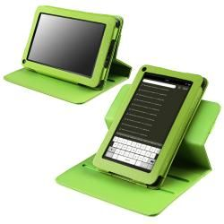 Green 360 degree Swivel Leather Case for  Kindle Fire