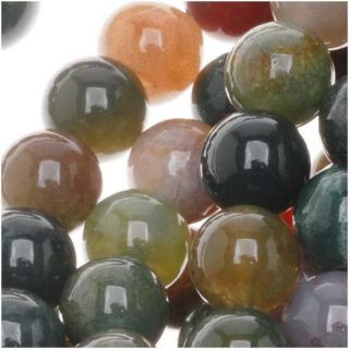 Indian Agate Autumn Color Mix 8 mm Round Bead 15.5 inch Strands (Pack