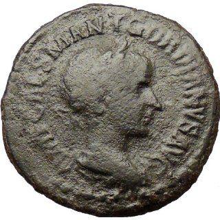 Gordian III VIMINACIUM 240AD Sestertius Ancient Roman Coin LEGION BULL