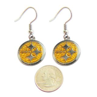 Pittsburgh Steelers Dangle Logo Earrings