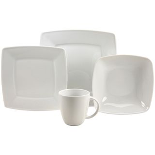 French Home 16 piece Fine Porcelain Dinnerware Set