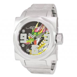 Ed Hardy Mens Baragon Dragon Stainless Steel Watch