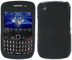 BlackBerry Curve 8520 Black Rubber Feel Hard Case Cover w
