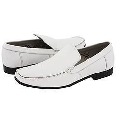 Steve Madden Model White Leather Loafers