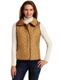 Jones New York Womens Quilted Vest, Sesame, X Large