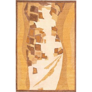 Hand knotted Charisma Gold/ Brown Wool Rug (6 x 9) Today $659.99
