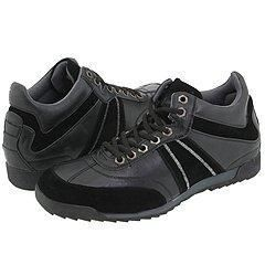 Steve Madden Ikkon Black Leather Athletic