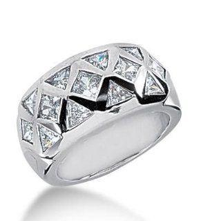 14K Gold Diamond Anniversary Wedding Ring, 8 Trillion