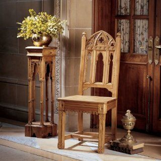 Sudbury Hand Carved Solid Pine Gothic Side ChairSet of Six