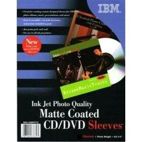 240 IBM Photo Quality Matte Inkjet Printable CD/DVD