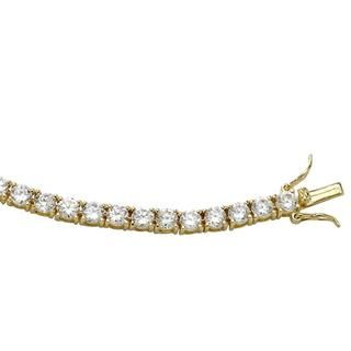 Ultimate CZ 18k Gold over Silver Cubic Zirconia Bracelet