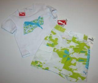 Puma Boys 2 Piece Tee/Swim Trunk Set   Size 3 6 Months