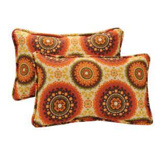 Pillow Perfect Decorative Brown/ Orange Circles Outdoor Toss Pillows