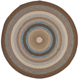 Hand woven Country Living Reversible Brown Braided Rug (6 Round