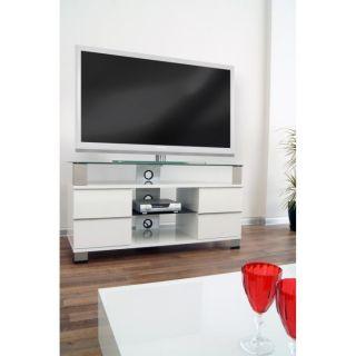 PONE Meuble TV laqué Blanc 120cm   Achat / Vente MEUBLE TV   HI FI