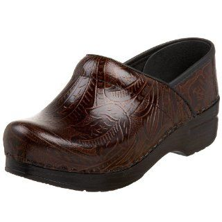 Dansko Womens Professional Tooled Clog Shoes
