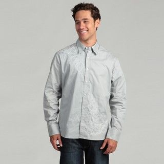 Cultura Mens Grey Stitch Woven Shirt
