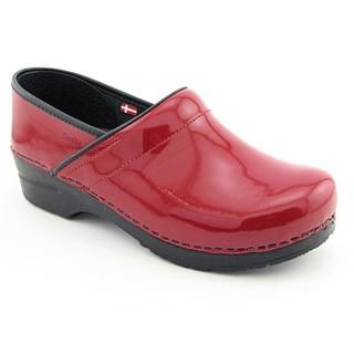 Sanita Womens Professional Patent Patent Leather Occupational Shoes