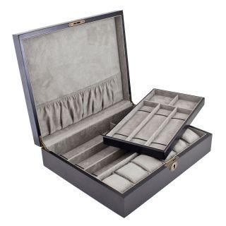 Dark Walnut Wood 12 watch Display Case