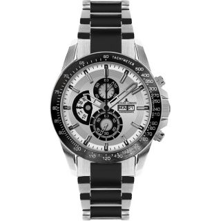 Jacques Lemans Mens Liverpool SS/ Black High Tech Ceramic Watch