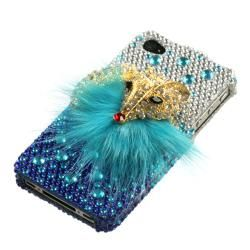 Apple Iphone 4/4S Fox Design 3D Premium Rhinestone Diamond Protector