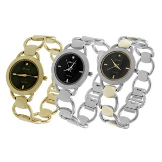 Geneva Platinum Womens Circular Link style Watch