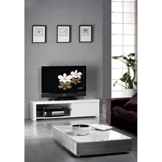 Meuble TV FILIPPI blanc   Achat / Vente MEUBLE TV   HI FI Meuble TV