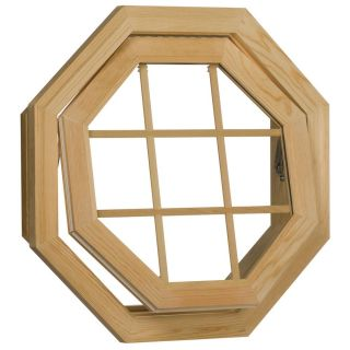 Century Unfinished Wood Operating Clear Insulated Glass Octagon Window