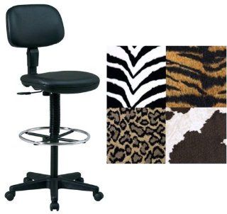 Fabric Animal Print Drafting Stools DC517 243: Office Products