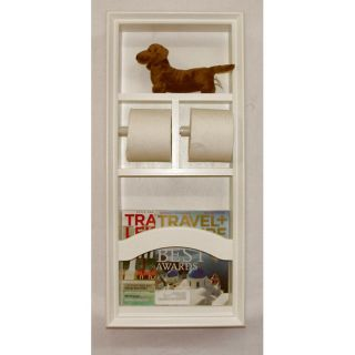 In The Wall Deluxe Magazine Rack Toilet Paper Holder Unit